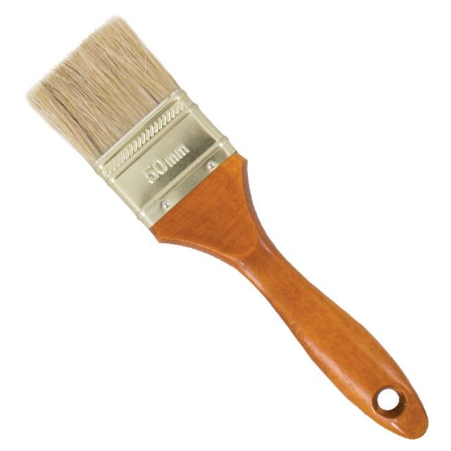 Flat paint brush 38x14x40mm INTERTOOL KT-1036