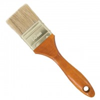 Flat paint brush 76x17x50mm INTERTOOL KT-1090