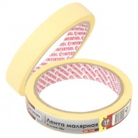 Painting tape 19 mm, 20 m, yellow INTERTOOL DM-1920