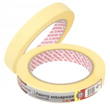 Painting tape 19 mm, 40 m, yellow INTERTOOL DM-1940