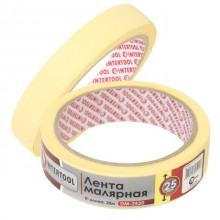 Painting tape 25 mm, 20 m, yellow INTERTOOL DM-2520
