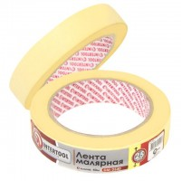 Painting tape 25 mm, 40 m, yellow INTERTOOL DM-2540