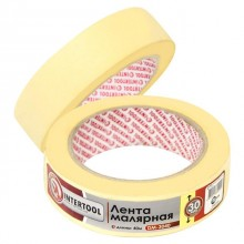 Painting tape 30 mm, 40 m, yellow INTERTOOL DM-3040