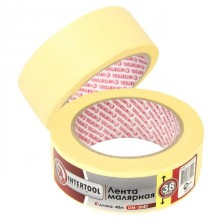 Painting tape 38 mm, 40 m, yellow INTERTOOL DM-3840
