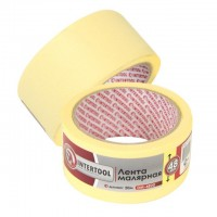 Painting tape 48 mm, 20 m, yellow INTERTOOL DM-4820