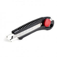 Knife with metal guide for blade 18 mm and screw clamp INTERTOOL HT-0502