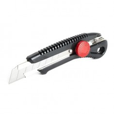 Knife with metal guide for blade 18 mm and screw clamp INTERTOOL HT-0502: фото 4