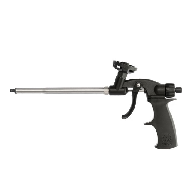 Foam gun with teflon coated needle, tube and tub holder + 4 nozzles INTERTOOL PT-0605