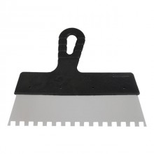 Stainless steel palette-knife 350 mm tooth 6x6mm INTERTOOL KT-2356