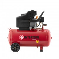 Compessor 50 liters, 2 HP, 1,5 kW, 220 volt, 8 atm, 206 litres per minute INTERTOOL PT-0003