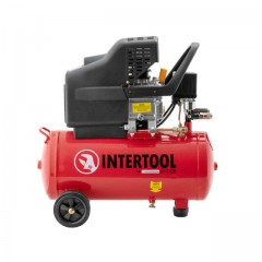 Compessor 24 liters, 2 HP, 1,5 kW, 220 volt, 8 atm, 206 litres per minute INTERTOOL PT-0009