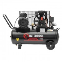 Compessor 50 liters, 2,5 HP, 1,8 kW, 220 volt, 8 atm, 233 litres per minute INTERTOOL PT-0011