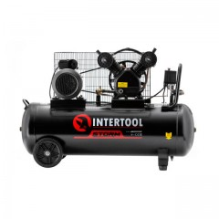 Compessor 100 liters, 4 HP, 3 kW, 220 volt, 8 atm, 500 litres per minute, 2 cylinders INTERTOOL PT-0014