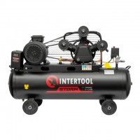 Compessor 100 liters, 5 HP, 4 kW, 380 volt,8 atm, 600 litres per minute, 3 cylinders INTERTOOL PT-0036