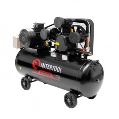 Compessor 200 liters, 10 HP, 7,5 kW, 380 volt,8 atm, 1050 litres per minute, 3 cylinders INTERTOOL PT-0040