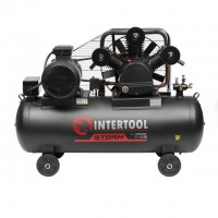 Compessor 300 liters, 15 HP, 11 kW, 380 volt,8 atm, 1600 litres per minute, 3 cylinders INTERTOOL PT-0050
