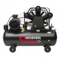 Compessor 300 liters, 20 HP, 15 kW, 380 volt,8 atm, 2000 litres per minute, 3 cylinders INTERTOOL PT-0052