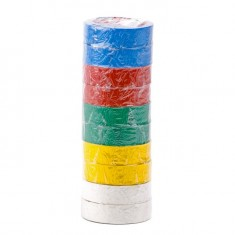 Insulating tape, 0,15mmx17mmx10m (pack 10pcs), many-coloured INTERTOOL IT-0014