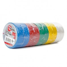 Insulating tape, 0,15mmx17mmx10m (pack 10pcs), many-coloured INTERTOOL IT-0014: фото 2