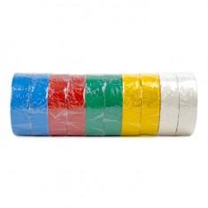 Insulating tape, 0,15mmx17mmx10m (pack 10pcs), many-coloured INTERTOOL IT-0014: фото 3