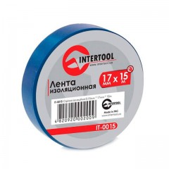 Insulating tape, 0,15mmx17mmx15m (pack 10pcs), blue INTERTOOL IT-0015