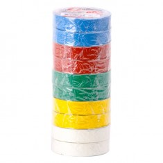 Insulating tape, 0,15mmx17mmx15m (pack 10pcs), many-coloured INTERTOOL IT-0019