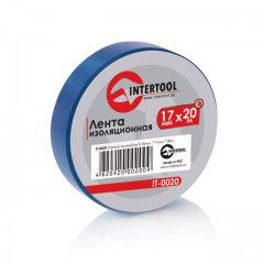 Insulating tape, 0,15mmx17mmx20m (pack 10pcs), blue INTERTOOL IT-0020