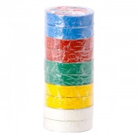 Insulating tape, 0,15mmx17mmx20m (pack 10pcs), many-coloured INTERTOOL IT-0024