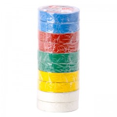 Insulating tape, 0,15mmx17mmx25m (pack 10pcs), many-coloured INTERTOOL IT-0029