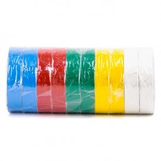Insulating tape, 0,15mmx17mmx25m (pack 10pcs), many-coloured INTERTOOL IT-0029: фото 2