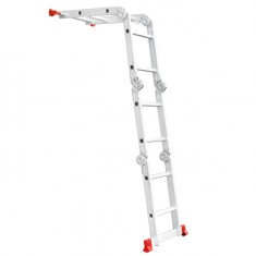 Aluminum ladder transformer multifunctional 4x2 steps 2,50 m INTERTOOL LT-0028: фото 3