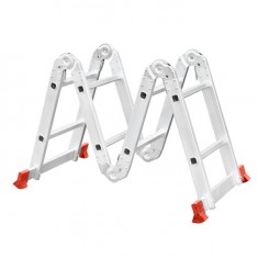 Aluminum ladder transformer multifunctional 4x2 steps 2,50 m INTERTOOL LT-0028: фото 5