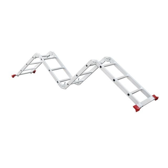 Aluminum ladder transformer multifunctional 4x3 steps 3,70 m INTERTOOL LT-0030