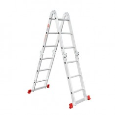 Aluminum ladder transformer multifunctional 4x3 steps 3,70 m INTERTOOL LT-0030: фото 2