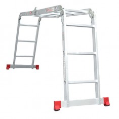 Aluminum ladder transformer multifunctional 4x3 steps 3,70 m INTERTOOL LT-0030: фото 7