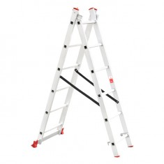 Aluminum ladder 2-sectional folding universal 2x6 steps 2,57 m INTERTOOL LT-0206