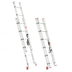 Aluminum ladder 2-sectional folding universal 2x6 steps 2,57 m INTERTOOL LT-0206: фото 2
