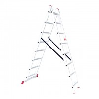 Aluminum ladder 2-sectional folding universal 2x8 steps 3,69 m INTERTOOL LT-0208