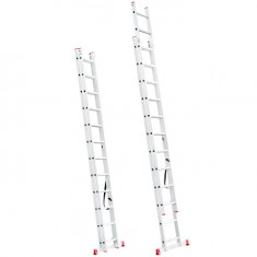 Aluminum ladder 2-sectional folding universal 2x12 steps 5,39 m INTERTOOL LT-0212: фото 2