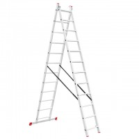 Aluminum ladder 2-sectional folding universal 2x12 steps 5,39 m INTERTOOL LT-0212