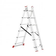 Aluminum ladder 3-sectional folding universal 3x6 steps 3,41 m INTERTOOL LT-0306