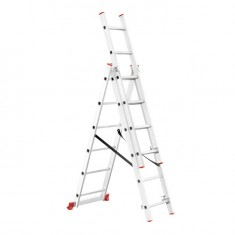 Aluminum ladder 3-sectional folding universal 3x6 steps 3,41 m INTERTOOL LT-0306: фото 2