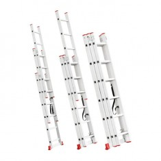 Aluminum ladder 3-sectional folding universal 3x6 steps 3,41 m INTERTOOL LT-0306: фото 3