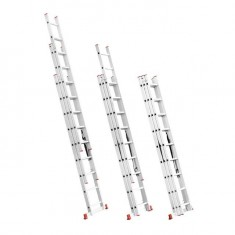 Aluminum ladder 3-sectional folding universal 3x8 steps 5,09 m INTERTOOL LT-0308: фото 3