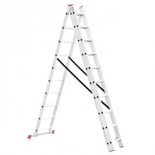 Aluminum ladder 3-sectional folding universal 3x10 steps 6,77 m INTERTOOL LT-0310