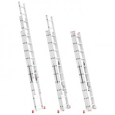 Aluminum ladder 3-sectional folding universal 3x10 steps 6,77 m INTERTOOL LT-0310: фото 3