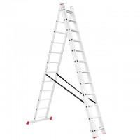 Aluminum ladder 3-sectional folding universal 3x12 steps 7,89 m INTERTOOL LT-0312