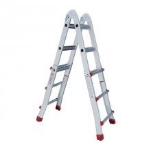 Aluminum ladder folding universal telescopic 4x3 steps, 3,10 m INTERTOOL LT-2043