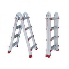 Aluminum ladder folding universal telescopic 4x4 steps, 4,20 m INTERTOOL LT-2044: фото 2