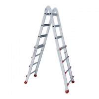 Aluminum ladder folding universal telescopic 4x4 steps, 4,20 m INTERTOOL LT-2044